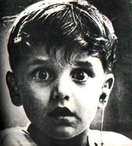 The photo, taken by photographer Jack Bradley, shows the moment that Harold Whittles hears for the first time after being fitted with a hearing aid