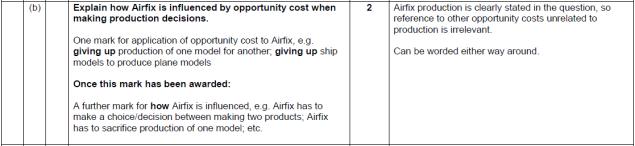 Mark scheme Airfix