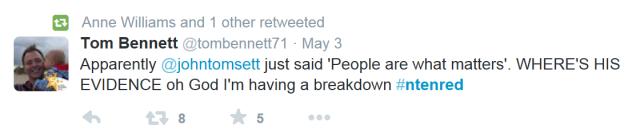 Tom Bennett tweet